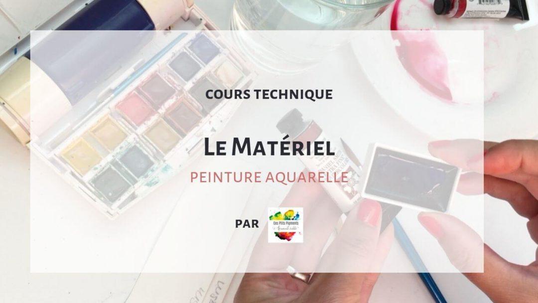 Le matériel en peinture aquarelle