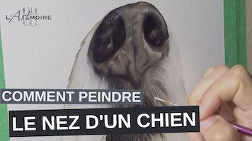 Comment peindre le nez d'un chien