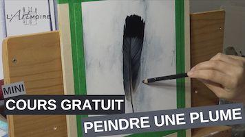Cours gratuit – Comment peindre un plume
