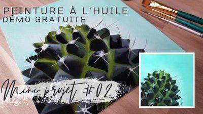 Mini projet #02 Cactus – cours de peinture gratuit