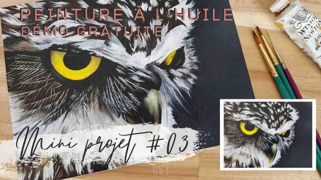 Mini projet #03 Chouette cours de peinture en ligne gratuit