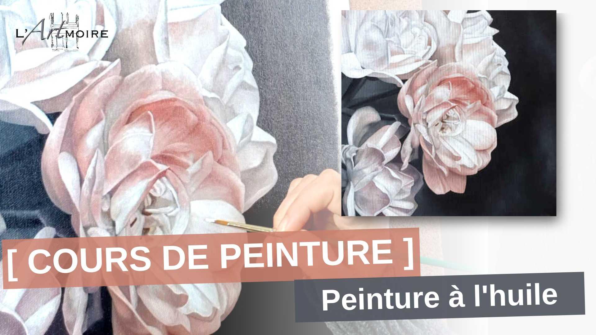 Cours de peinture gratuit peindre une fleur peinture à l'huile