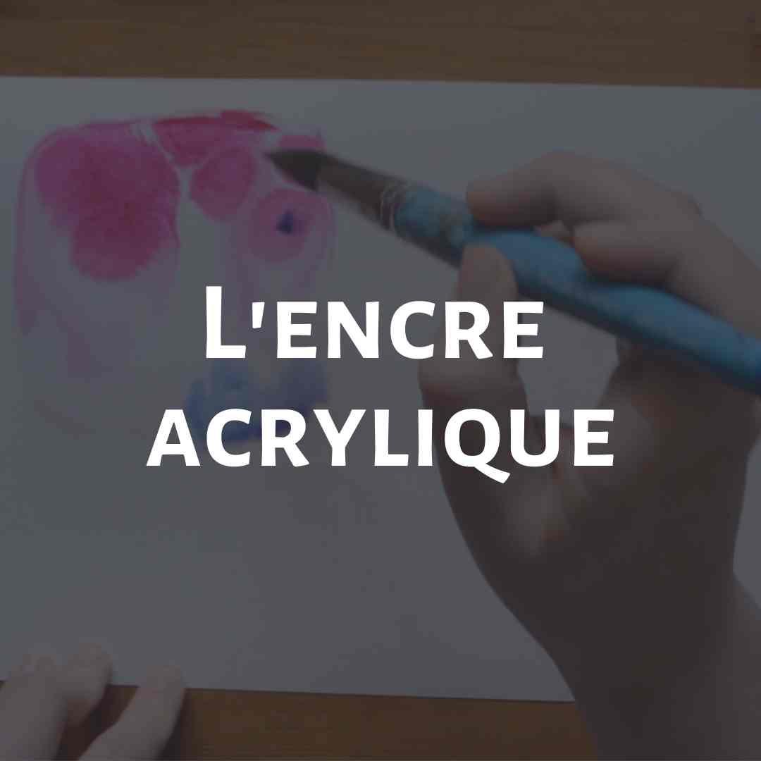 Cours de peinture en ligne découvrir les encres