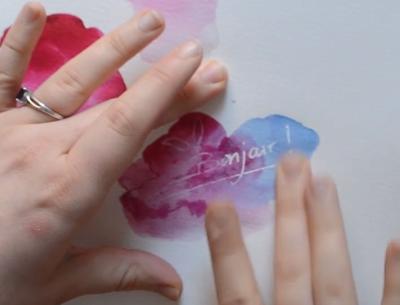 fluide à masquer encre aquarelle