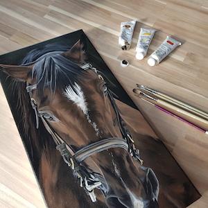 peindre un cheval en peinture à l'huile