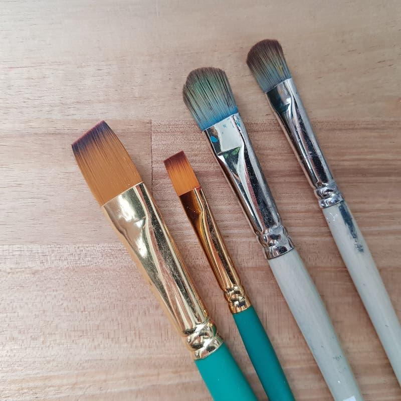 Les pinceaux en peinture à l'huile