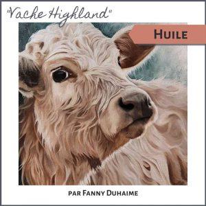 Cours de peinture à l'huile vache highland