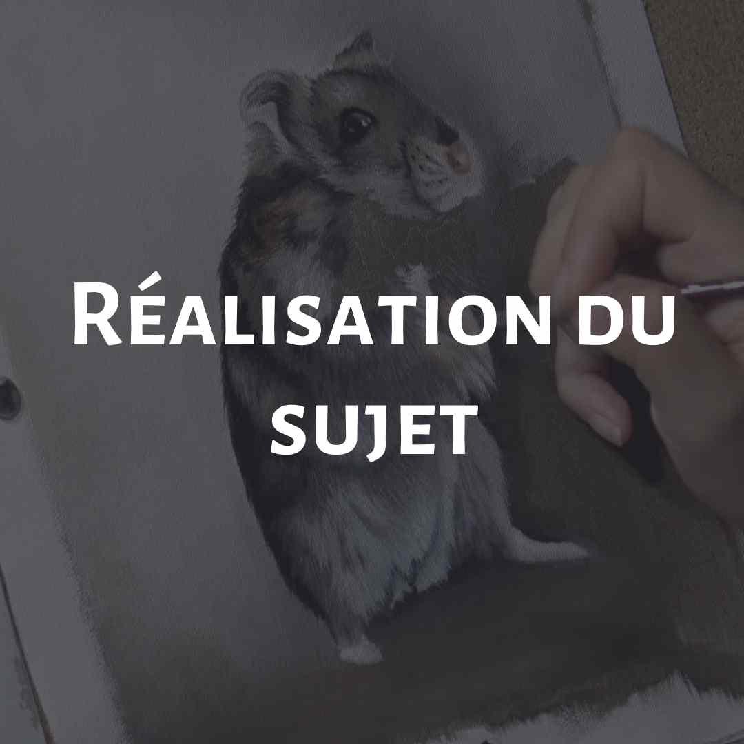 Petit Hamster Cours de peinture à l'huile soluble à l'eau