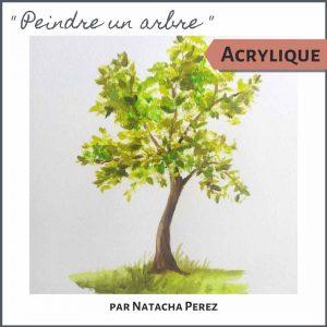 Cours de peinture peindre un arbre en peinture acrylique