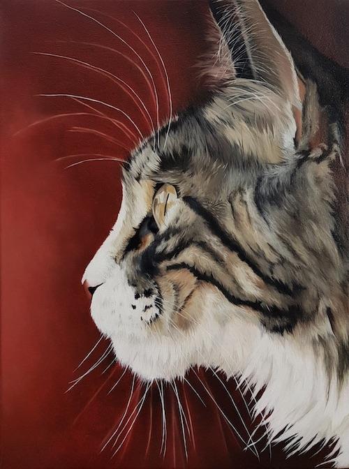 Cours de peinture en ligne à l'huile peindre un chat