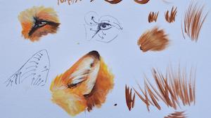 Cours de peinture en ligne peindre la fourrure d'animaux en peinture acrylique