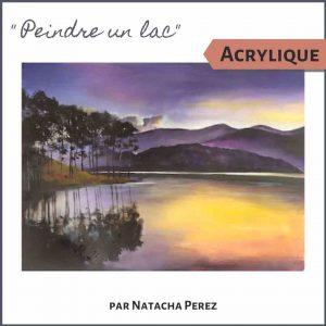 Cours de peinture acrylique paysage peindre un lac