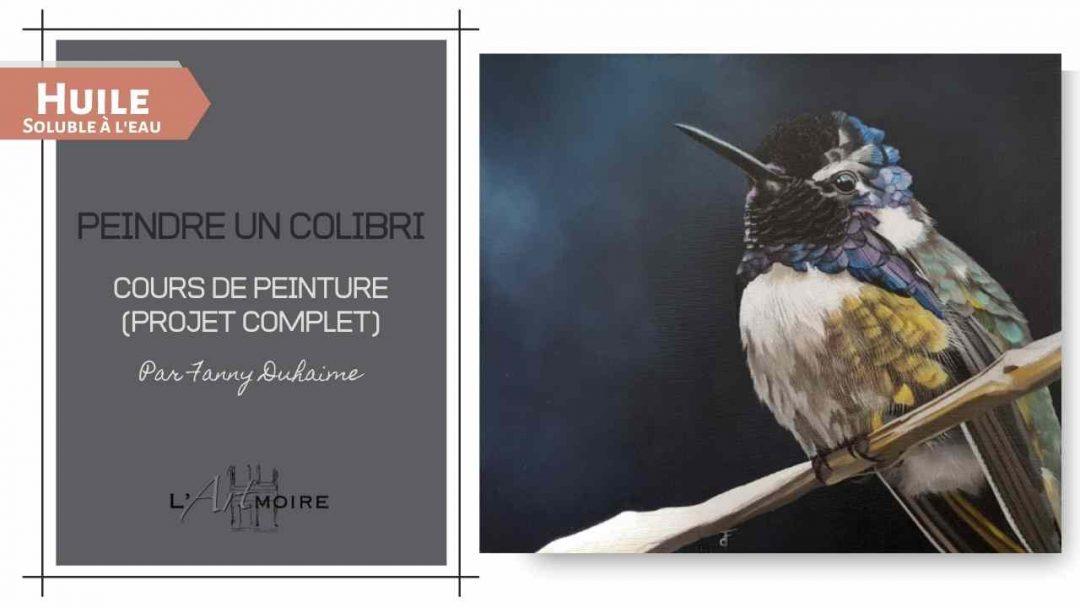 Colibri – Peinture à l'huile soluble à l'eau