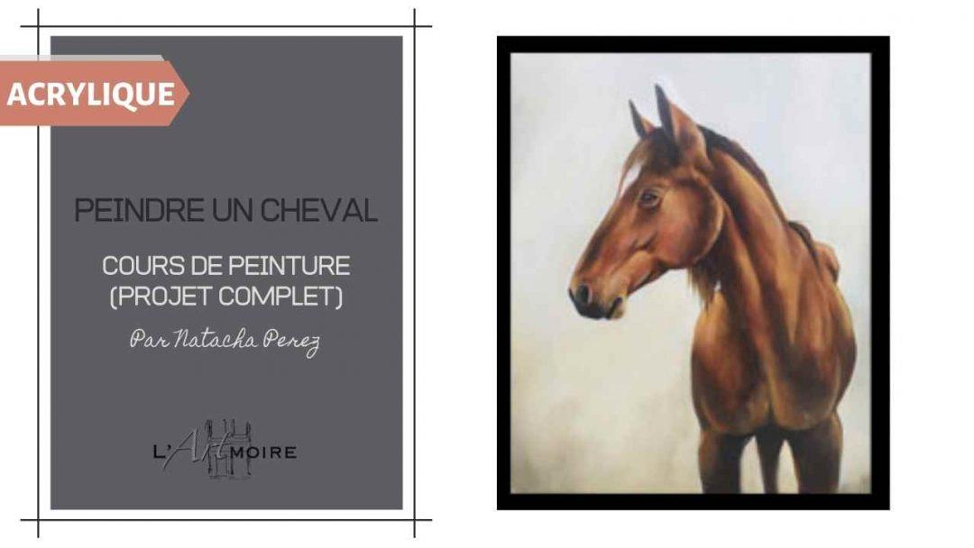 Peindre un cheval en peinture acrylique