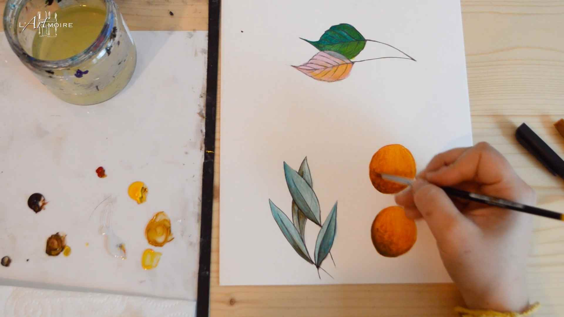 Les glacis en peinture acrylique cours de peinture en ligne