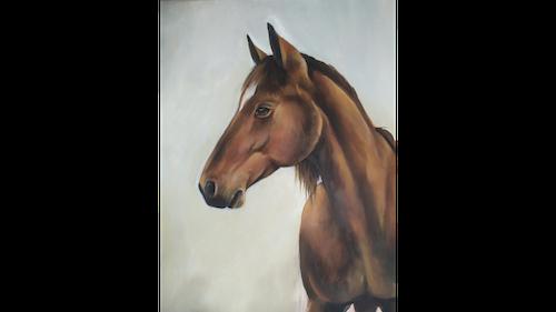 Cours de peinture peindre un cheval en peinture acrylique