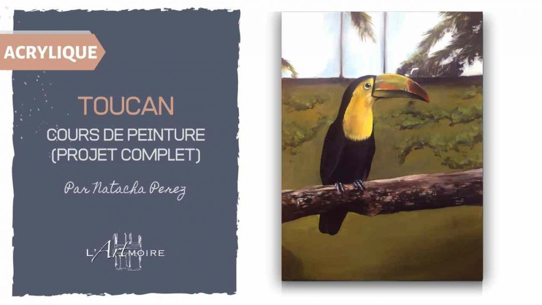 Peindre un Toucan – Cours de peinture acrylique