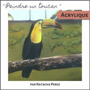 Cours de peinture acrylique animaux oiseau peindre un toucan