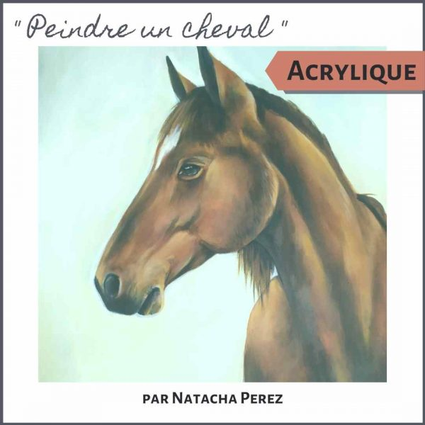 Peindre un cheval - Cours de peinture acrylique