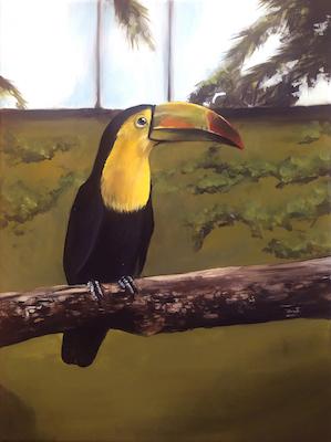 peindre un toucan en peinture acrylique photo finale